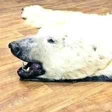 faux bear rug white bear rug fake with head co faux bear rug