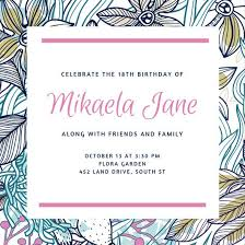 Online Birthday Invitations Templates Gorgeous Customize 4848 488th Birthday Invitation Templates Online Canva