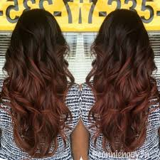 Dark Brown To Reddish Brown Ombre