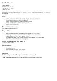 Cook Resumes Unique Sample Cook Resume Restaurant Samples Line Job Cover Letter Ideas