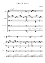 Color My World Musescore