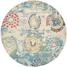 this review is from barcelona beige 8 x 8 round rug
