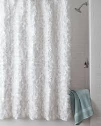White Cotton Shower Curtain Neiman Marcus