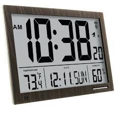 digital wall clock day date time marathon cl030062wd slim jumbo atomic digital wall clock big digital