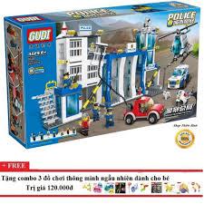 Shop bán Bộ xếp hình lego Gudi 9320-cảnh sát truy đuổi tội phạm-870 mảnh  ghép chỉ 539.000₫