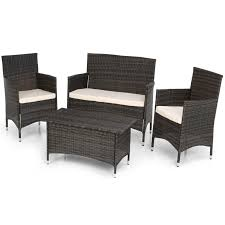 TGC Garden Collection 4pc Dining Set Furniture Black Butterfly Metal Patio Chair