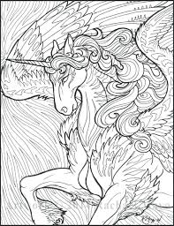 Free Printable Unicorn Coloring Pages Unicorn With Wings Coloring