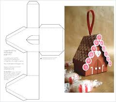 Foldable House Template Gingerbread House Template 3d Foldable Papercraft Templates