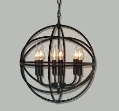 awesome rustic orb chandelier or rh lighting restoration hardware vintage pendant lamp foucaults iron orb chandelier