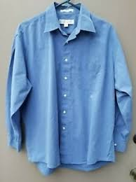 Perry Ellis Size Chart Details About Size 16 1 2 32 33 Men Perry Ellis Cotton Blue Lightweight Chambray Long Sleeve