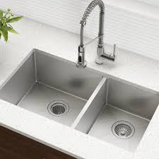 Khu103 33 Kraus Kitchen Sink 33 L X 19 W Double Basin Undermount