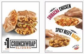 new 1 sriracha crunchwrap sliders at taco bell
