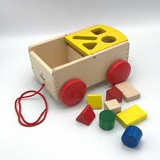 shapes pull wagon sorting toy yellow