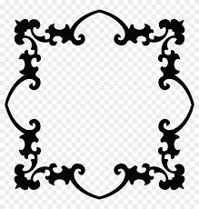 free clipart of a fancy fl frame black and white scalable vector graphics 177089
