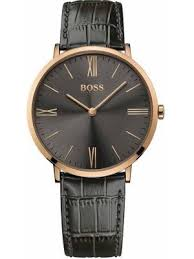 mens dress watches creative watch co hugo boss men s jackson rose gold black leather classic dress watch