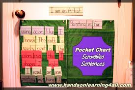 Learning Center Pocket Chart How I Home School My 3 Children In 3 Different Grades
