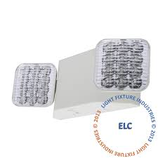 all led emergency light white housing remote head ready