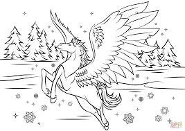Small Picture Bella Sara Pegasus Coloring Page Free Printable Coloring Pages