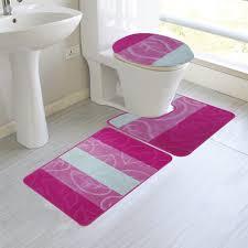 unique 2 piece bathroom rug sets home designs 3 pink mat design approved new set blue
