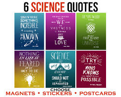 Science Quote Stickers Inspirational Women In Science Gift Laptop Stickers Motivational Postcards Nerd Fridge Magnets Geek Stationary