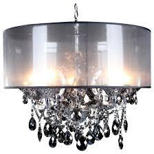 smoke crystal chandelier smoke drum shade
