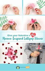 diy moana lollipop flower