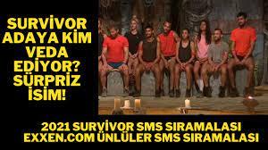 Exxen.com Survivor Sms Sıralaması 28 Şubat 2021 Survivor 8. hafta Ünlüler SMS  sıralaması Exxen - Ajansspor.com