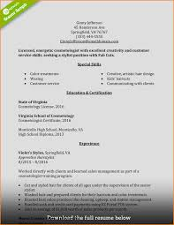 11 Resume Examples For Cosmetologist Skills Based Resume