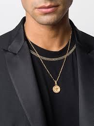 versace medusa pendant necklace farfetch