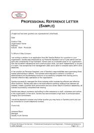 Free Professional Reference Letter Template Features Letter Template