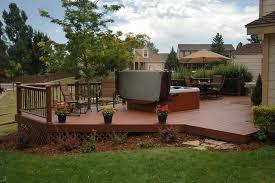 backyard deck design ideas. A Beautiful Wooden Deck With Latticed Screen Around The Lower Part To Keep Out Rodents Backyard Design Ideas