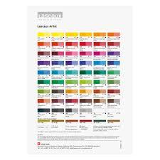 Lascaux Artist Acrylic Printed Color Chart Jacksons Art