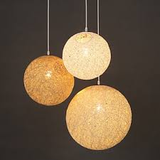 spherical lighting. E27 15CM Line 1M Contemporary And Contracted Spherical Cany Art Lamp Hemp Ball Pendant Led Lighting
