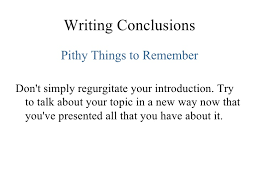 lesson five conclusions writing conclusions