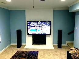 how to hang tv on stone fireplace mounting above fireplace hiding wires hanging stone figure 1