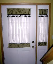 window treatments for doors with half glass i need to make curtains for my front door
