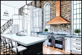 Interior Kitchen Concept Design Rendering 2 Graphic Artist