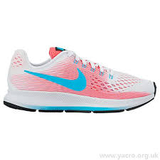nike shoes for girls pink and black. nike zoom pegasus 34 running shoes white / chlorine blue racer pink black wuv2 - girls\u0027 for girls and