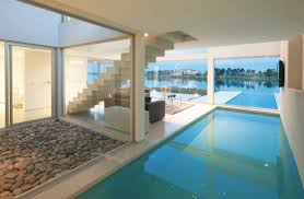indoor pool house with slide. Indoor Pool And Hot Tub With A Slide House