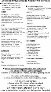 Arnold Exercise Chart Bethebest3 Arnold Diet Here Surprise Workout And Diet