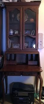 ethan allen computer desk bookcase desk secretary removable hutch 2 storage drawers ethan allen maple computer desk