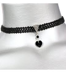 twilight s fancy jet black swarovski crystal heart pendant choker necklace c011t4bk0ip