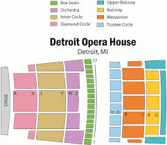 Cobo Hall Seating Chart Punctual Detroit Opera House Detroit Mi Seating Chart