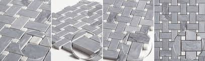 latin gray marble basketweave mosaic tile collection ctr