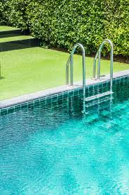 swimming pool background. Swimming Pool Ladder With Grass Background Free Photo Swimming