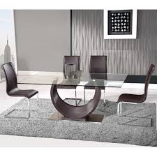 dining room lovely modern dining room tables clear glass top rectangular shaped unique u shape pedestal