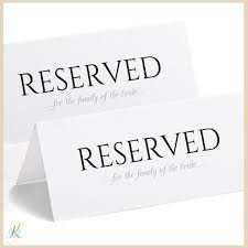 Reserved Signs Templates Free Printable Reserved Sign Tent Basic No Design Editable Pdf