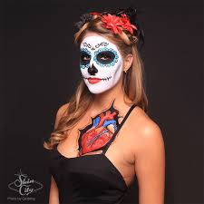 half face skull makeup you skeleton costume makeup i used my makeupforever flash face painting temporary half face beauty sugar