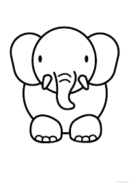 Easy Animal Coloring Pages Coloring Pages Of Cute Animals Beautiful