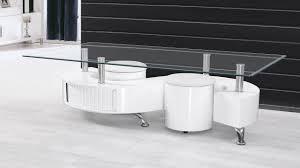 S Shaped Coffee Table White S Shape High Gloss Coffee Table Homegenies 2017